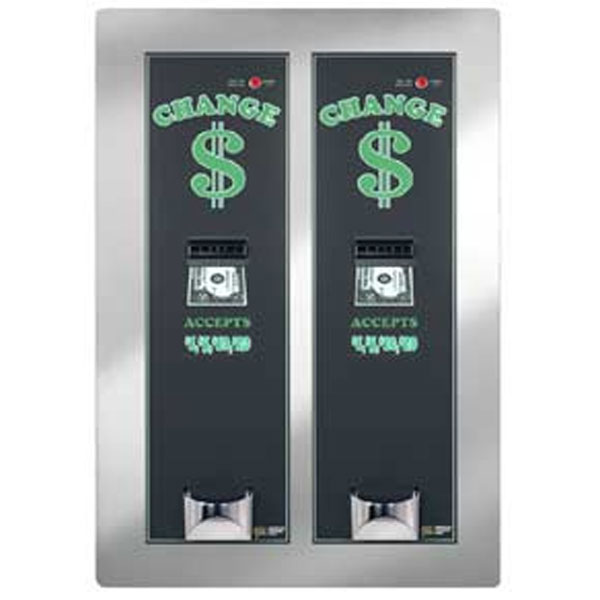 Side by Side Dual Rear Load Dual Bill Changer - Vending Change Dispenser