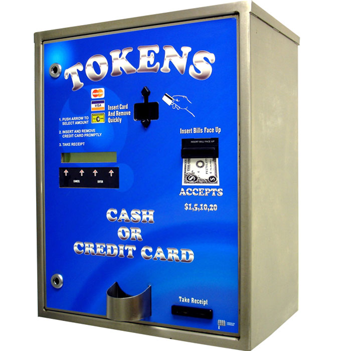 Platinum Series Bills, Coins or Credit Card Token Dispenser