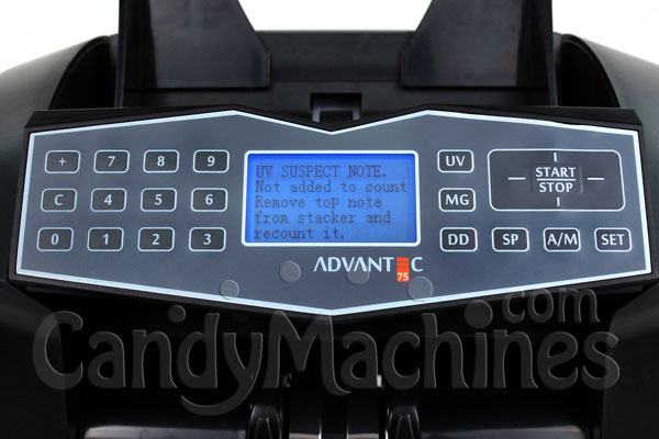 Cassida Advantec 75 Advanced Heavy Duty Bill Currency Counter