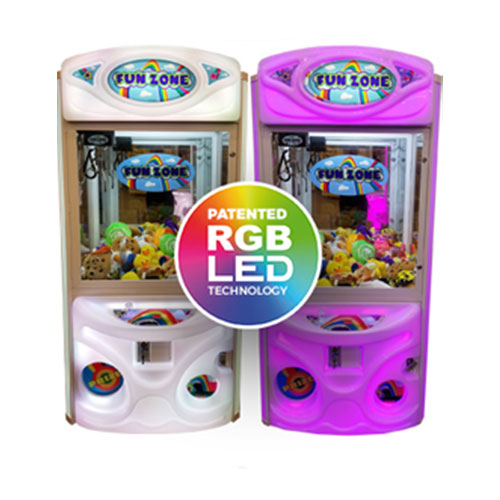 Fun Zone Color Changing Claw Machine White and Purple