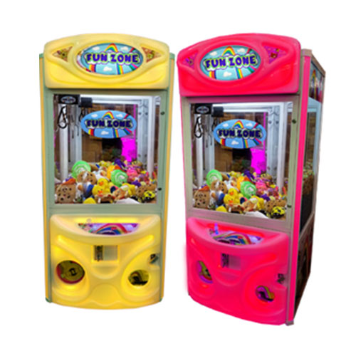 Fun Zone Color Changing Claw Machine Yellow and Pink