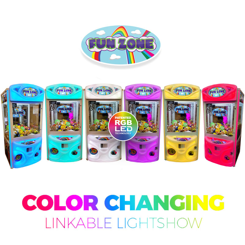 Fun Zone Color Changing Claw Machine Linked