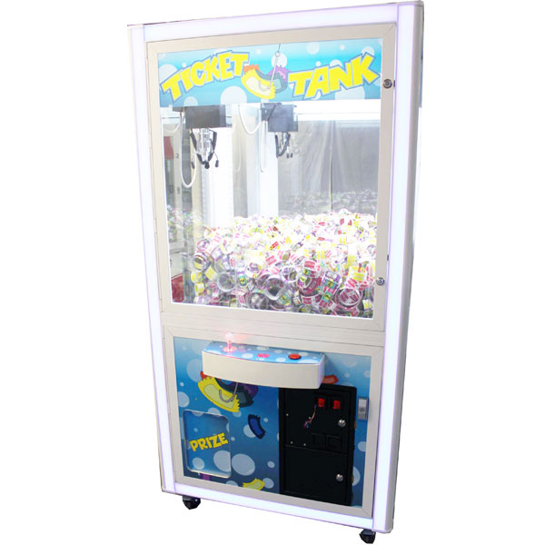 "Ticket Tank 38"" Crane Vending Machine"