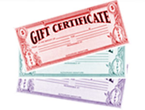 Gift Certificates - Click Here To Buy!