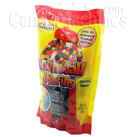 Carousel Gumball Refills 1 lb. Stand Up Bag