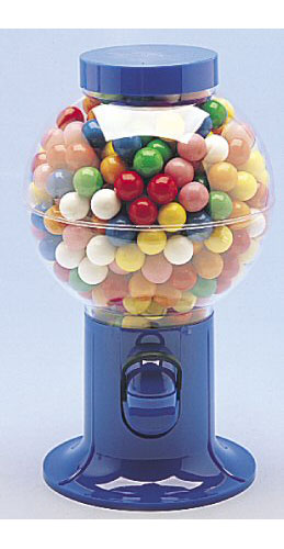 Gumball Candy Snack Dispenser Blue, 9.5""