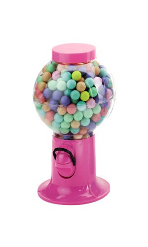 Gumball Candy Snack Dispenser Pink, 9.5""