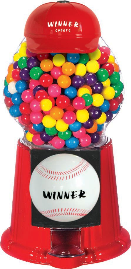 Baseball Gumball Dispensing Machine