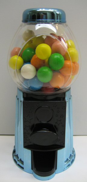 Blue Metallic Gumball Dispenser