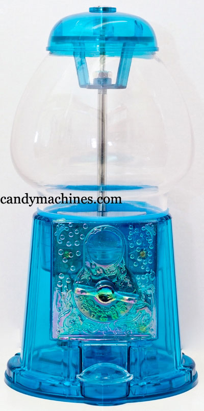 Clear Blue Acrylic Medium Gumball Bank