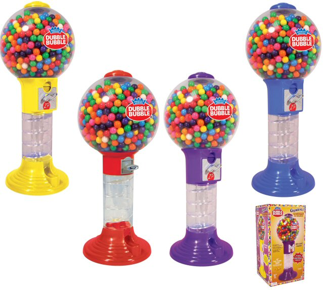 Dubble Bubble Giant Spiral Gumball Bank w/Gumballs - Click Here To Buy!