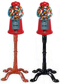 large gumball machine with stand