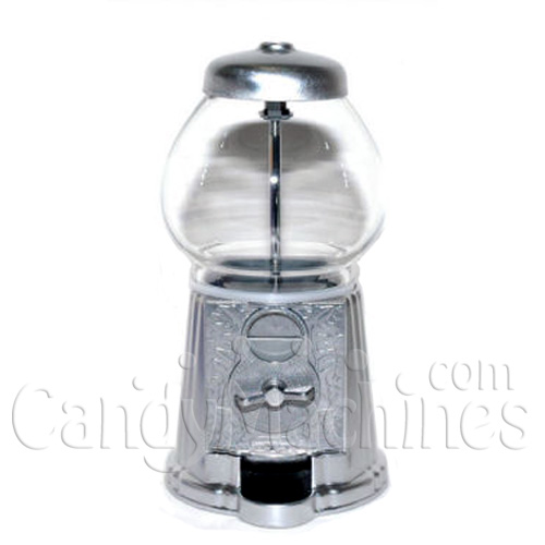 Medium Silver Gumball Bank holds 24 oz