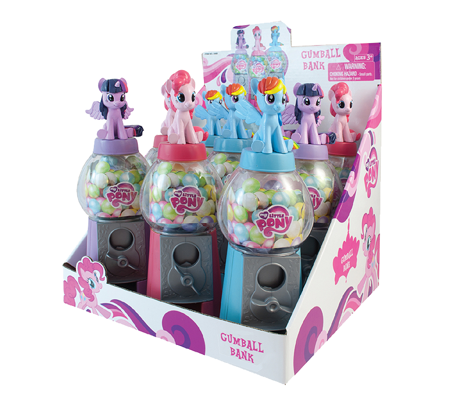 My Little Pony 7 Inch Gumball Bank with Gumballs
