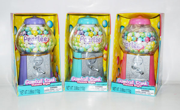 Pearlee Classic Gumball Bank with Gumballs - 8.5 Inches