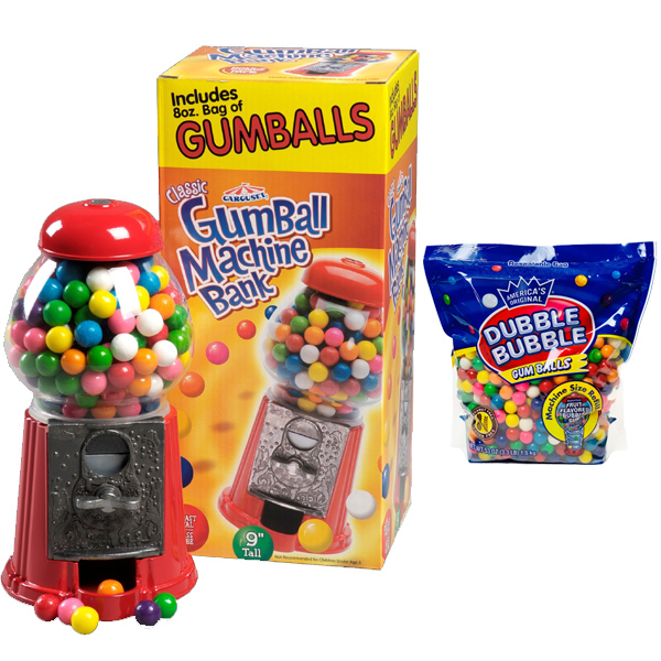 Petite Carousel Gumball Machine Gift Set (includes gumballs)