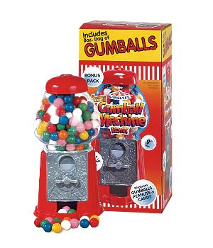 Petite Carousel Gumball Machine - 9-inches