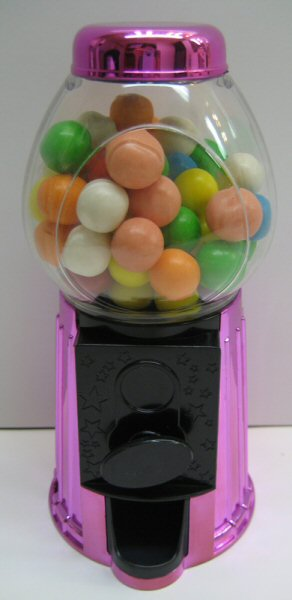Pink Metallic Gumball Dispenser