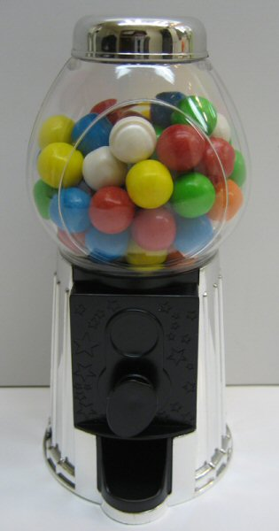 Silver Metallic Gumball Dispenser