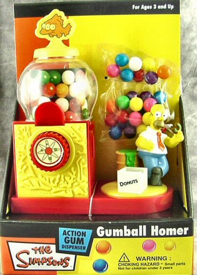 The Simpsons Penny Gumball Coin Bank w/Gumballs
