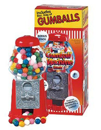 Small Gumball Bank w/Gumballs - Click Here To Buy!