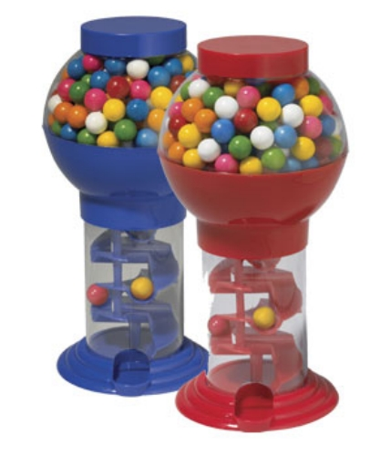 gumball machine with spiral