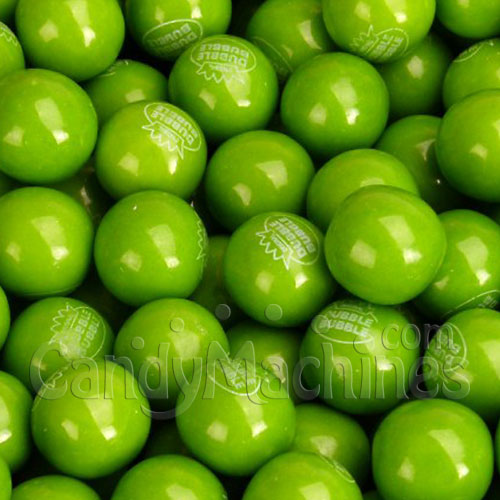 Green Apple Gumballs by Dubble Bubble - 850 ct.