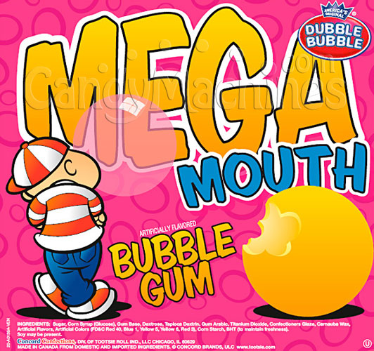 Dubble Bubble Mega Mouth Candy Filled Giant Gumballs - 138 ct.