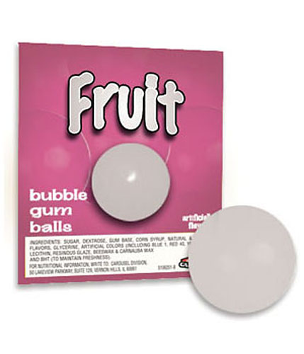 Solid White Fruit Flavor Gumballs