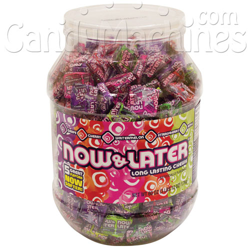 Now & Later Long Lasting Chews 60-ounce jar -  6-jar/Case