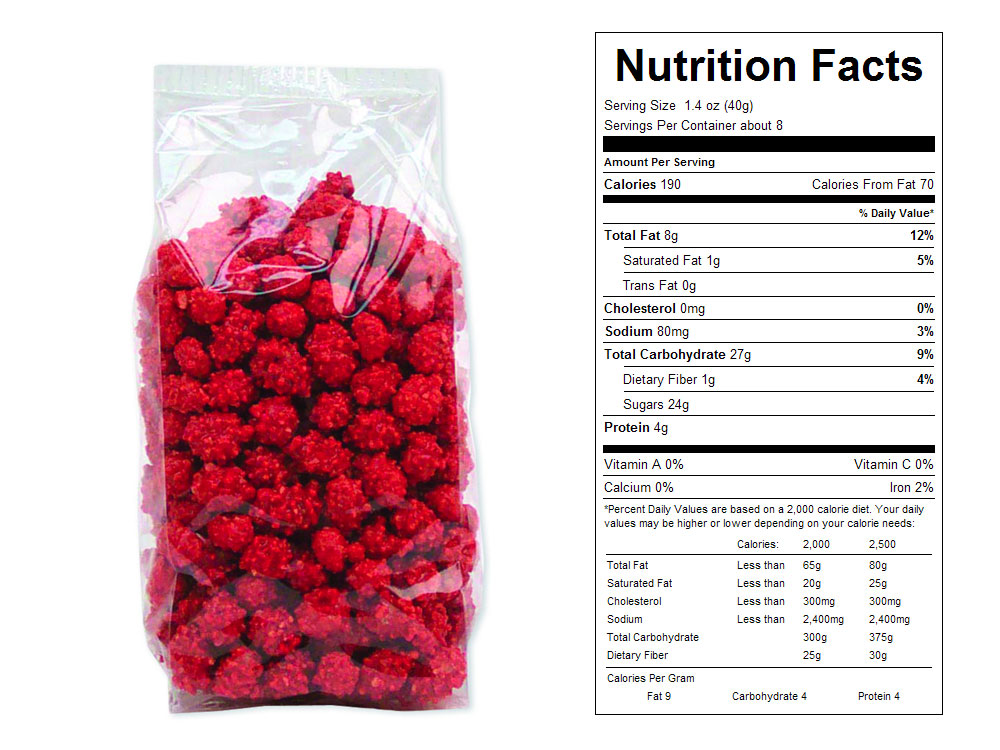 French Roasted Peanuts Prepackaged Candy - Nutrition Facts
