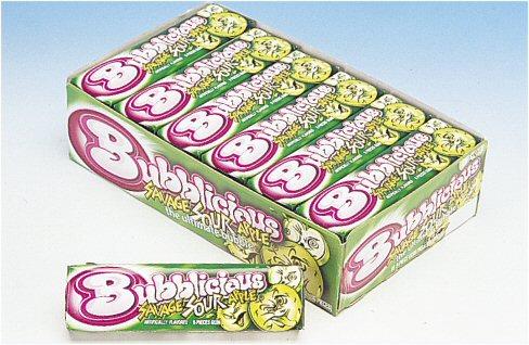 Bubblicious Savage Sour Apple Gum