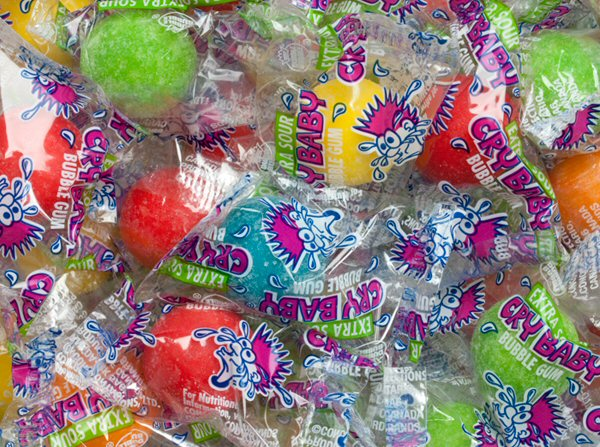 Cry Baby Extra Sour Wrapped Gumballs - 240 ct. Jar