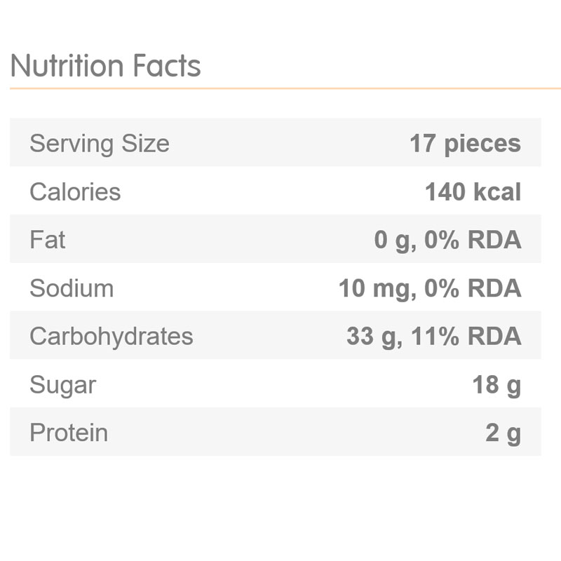 Haribo Gold Bear Gummy Bears Nutrition Facts