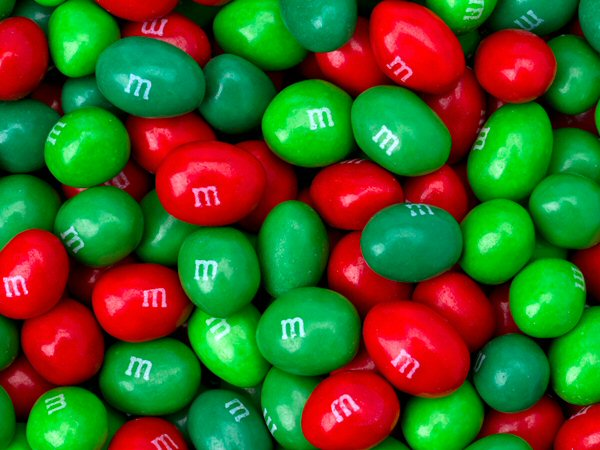 M&M's Holiday Red & Green Peanut Candies - 3.5 lb. Bag