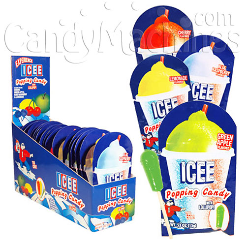 ICEE Popping Candy with Lollipops 18-count box / 6-box Case
