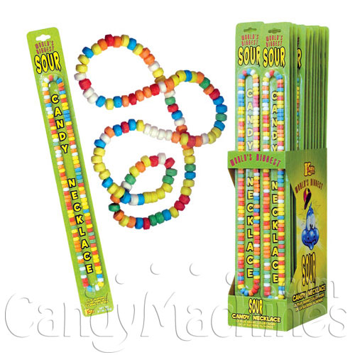 World's Biggest (60g) Sour Candy Necklace  - 24 ct. Display Box
