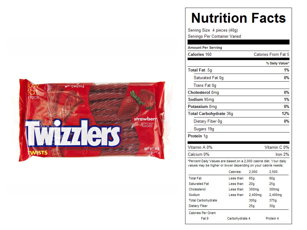 Twizzlers® Strawberry Twists - Nutritional Facts