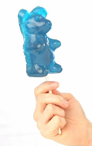 Blue Raspberry Giant Gummy Bear On a Stick