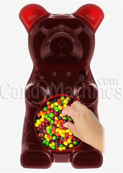 Giant Gummy Bear Candy Bowl - Cherry Cola Flavored
