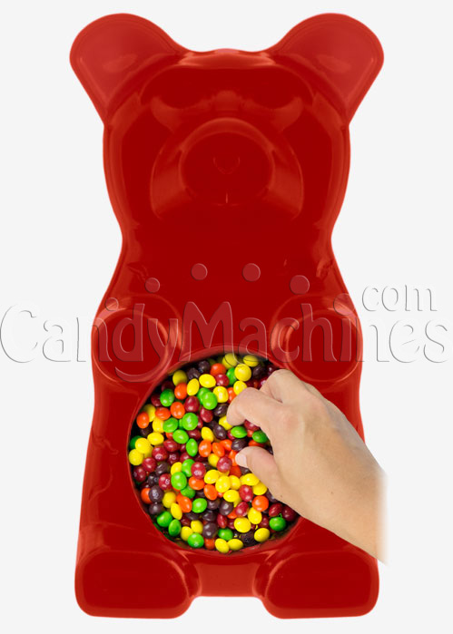 Giant Gummy Bear Candy Bowl - Cherry Flavored