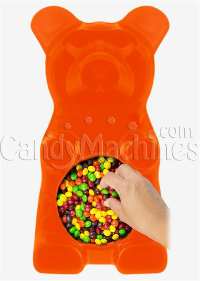 Giant Gummy Bear Candy Bowl - OrangeFlavored