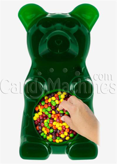 Giant Gummy Bear Candy Bowl - Sour Apple Flavored