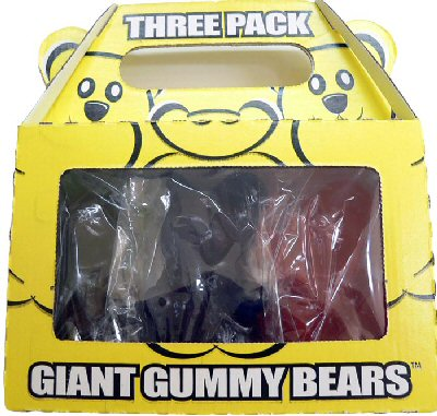 Giant Gummy Bears - 3 Pack