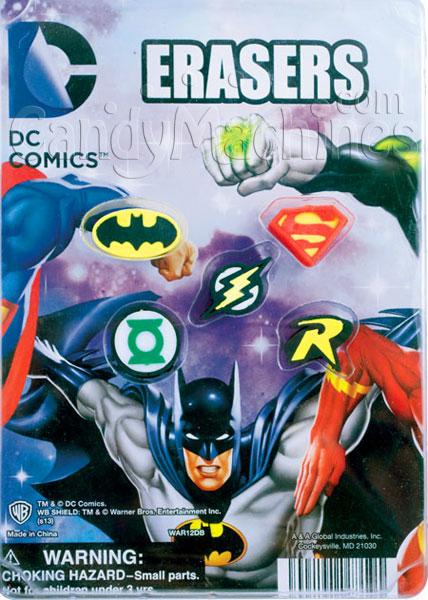 DC Comics Erasers Vending Capsules