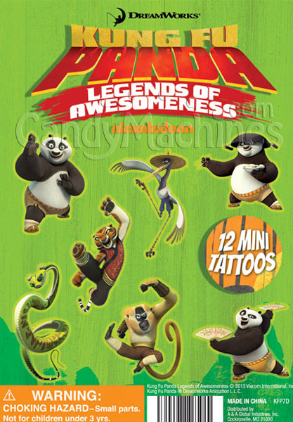 Kung Fu Panda Mini Tattoos Vending Capsules