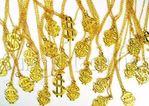 Dollar Sign Necklaces Bulk Vending Toys