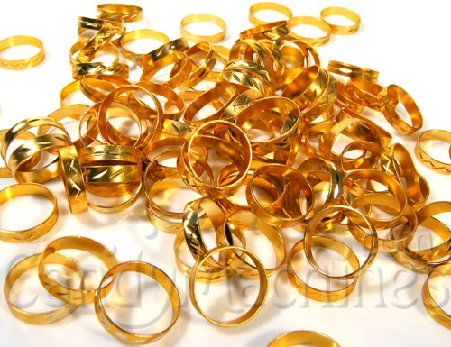 Gold Band Rings Bulk Vending Toys