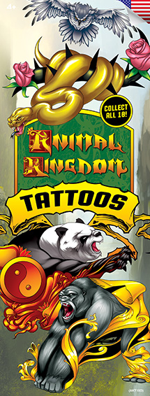 Animal Kingdom Vending Tattoos - 300 ct. Refill