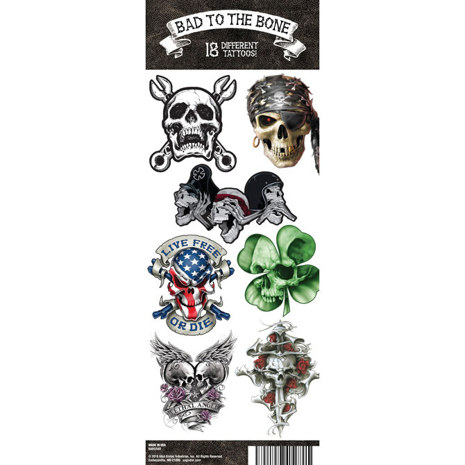 Bad to The Bone Vending Tattoos - 300 ct. Refill